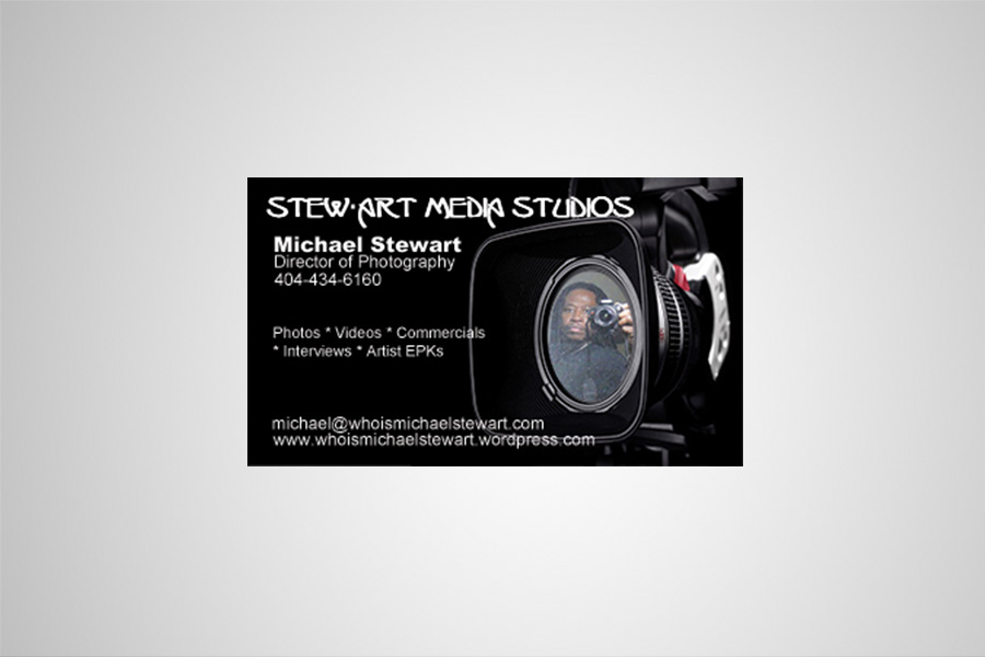 Business card for StewArt Media
